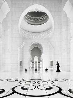 Striking mosque interior