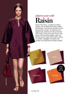 InStyle Color Crash Course-Raisin | Style | Pinterest #whattowearwith