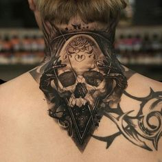 Best Back of Neck Tattoos For Men - Best Neck Tattoos For Men: Cool Neck Tattoo Designs and Ideas - Badass Full, Front, Side, Back of Neck Tattoos For Guys neck tattoos 125 Best Neck Tattoos For Men: Cool Ideas + Designs Guide) Tattoo Nape, Hand Tattoos, Skeleton Hand Tattoo, Best Neck Tattoos, Throat Tattoo, Wolf Tattoos, Skull Tattoos, Body Art Tattoos, Sleeve Tattoos