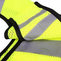 反光背心安全的夜间运动跑步循环荧光高可见性