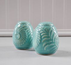 Rare Salt And Pepper Shakers | Vintage Shawnee Salt and Pepper Shakers - Ceramic Turquoise Set