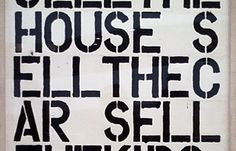 Christopher Wool, Apocalypse Now, work on paper,1988 Christie's fall 2013 auction estimate of the painting: $15-20 million Price realized: $26,485,000. World auction record for the artist