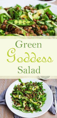 Green Goddess Salad  Euphoric Vegan