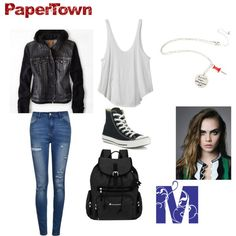 Margo/ Papertown outfit idea by motterhayden on Polyvore featuring RVCA, American Eagle Outfitters, Ally Fashion, Converse and Sherpani