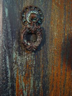 Close-up of Modern Masters Metal Effects on Furniture | Gabrielle Paints