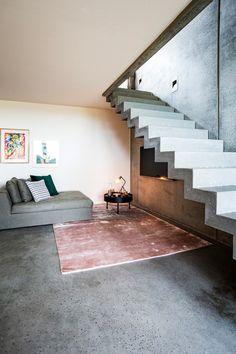 Skulpturell betongtrapp