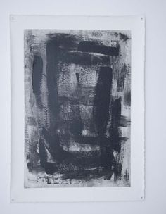 Black & White Gestural Abstract Painting in by ModernArtbyKJ