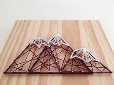 Geometric Snowy Mountains String Art Moving Mountains Wall