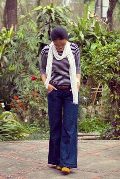 Shirt & Shoes: Forever21, Jeans: Old Navy, Scarf: Target, Belt: ???
