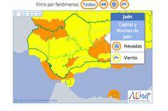 Meteorología activa aviso naranja por nevadas, hoy, en el sur y en el este de la provincia