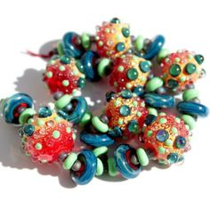 Carnival- Hollow Lampwork Beads Set.