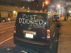 Just Divorced NYC car