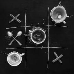 Coffee wins by Dina Belenko - Photo 135562141 - 500px. #coffee #motion #creative #advertising #fun #black #game #play #splash #dark #food #milk #chalk #drink #sweet #sugar #minimalist #cinnamon #dessert #sale #chalkboard #coffeebreak #highshutterspeed #tictactoe #noughtsandcrosses #augsburg #munich #muc #münchen #stuttgart
