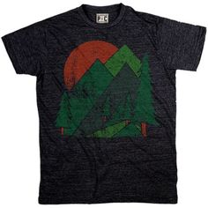 Men's The Woods Onyx T-Shirt | Vintage Nature Tee | Cool Mountain Tshirts | PalmerCash