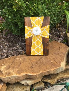 Yellow and White Cross, Wall Cross, Decorative Crosses, Cross Wall Decor, Wooden Cross, Wood Cross, Cross Decor, Cross for Wall, Unique Gift by FabricCrossDecor on Etsy