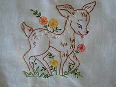 Quilt Square -Fawn Quilt Square - Machine Embroidery Designs at Embroidery Library! - Machine Embroidery Designs at Embroidery Library! - Embroidery Library New baby bebes cross stitch 27 ideas Embroidery Stitches Patterns Basic Embroidery Stitches, Hand Embroidery Videos, Hand Embroidery Flowers, Flower Embroidery Designs, Hand Embroidery Stitches, Crewel Embroidery, Vintage Embroidery, Ribbon Embroidery, Machine Embroidery Designs