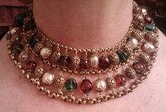 Exquisite Unsigned Miriam Haskell Frank Hess necklace