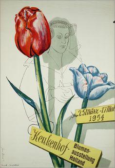 Keukenhof Blumenausstellung Holland, 1954