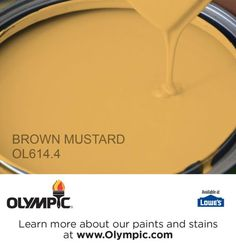 BROWN MUSTARD OL614.4 is a part of the yellows collection by Olympic® Paint.