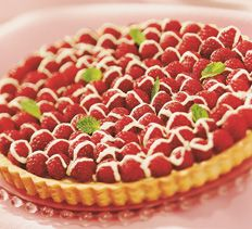 Raspberry White Chocolate Truffle Tart > Cooking Club of America