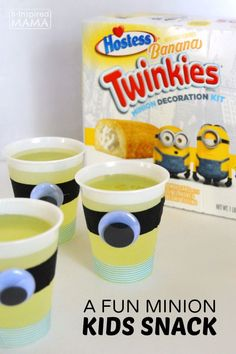 A Fun Kids Snack Full of Minions - at B-Inspired Mama - Sponsored by @Hostess_Snacks #ad #TwinkieMinionSweeps