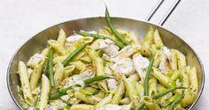 Pasta med kylling og grønne bønner - Overlev på SU