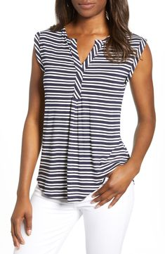 Shop a great selection of Loveappella Stripe Sleeveless Swing Top. Find new offer and Similar products for Loveappella Stripe Sleeveless Swing Top. Handkerchief Hem Dress, Twill Shirt, Tunic Tank Tops, Swing Top, Stylish Tops, Knit Jacket, Fit Flare Dress, Custom Clothes, Clothes For Women