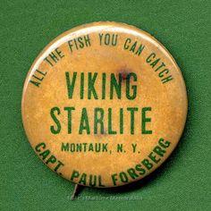 VIKING STARLITE Fishing Pin, Montauk, NY – 1966 Montauk Fishing, Lobster Fishing, Charter Boat, The Hamptons, Vikings, Memories, The Vikings, Memoirs, Souvenirs