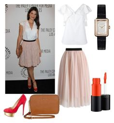 """""""Genevieve Padalecki outfit"""" by emilyschroeer on Polyvore featuring Mode, Dorothee Schumacher, Chicwish, Charlotte Olympia, Michael Kors, Chanel und MAC Cosmetics"""