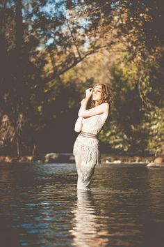 Woman in the water photo shoot!