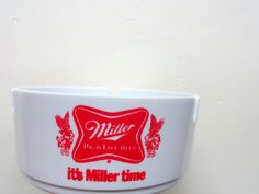 Vintage Acrylic Miller Beer Ashtray 1980s by WylieOwlVintage, $12.00