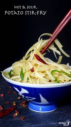 Crunchy, thin strips flavoured with tangy spices, Chinese potato stir-fry shows you an exciting way to prepare potatoes.