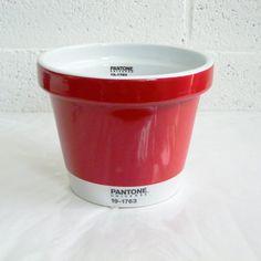 Vaso Pantone Universe Medium Rosso 19 cm x 19 cm x 15 cm - #pantone #pot #red