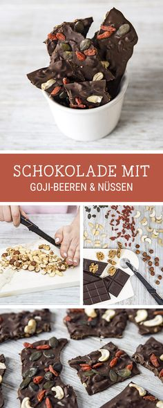 #Schokoladenrezept Wir zeigen Dir, wie Du Schokotafeln mit Gojibeeren selber machst / homemade chocolate bars with superfood via DaWanda.com