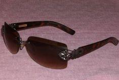 Womens Fashion Sunglasses Foster Grant Black Frame Silver V Rhinestone Stem #005