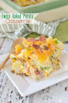 Twice Baked Potato Casserole - comfort food at it's best! | MomOnTimeout.com | #casserole #potatoes #recipe