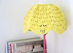Crochet Lampshade Yellow by babytogo on Etsy