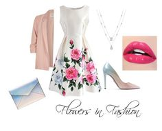 """""""Flower Work Outfit"""" by submissive-bookworm on Polyvore featuring River Island, Chicwish, Prada and Rebecca Minkoff"""