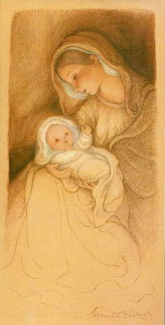 Marta Ribas Blessed Mother Mary, Blessed Virgin Mary, Religious Images, Religious Art, Nativity Painting, Religion, Christian Images, Mama Mary, Sainte Marie
