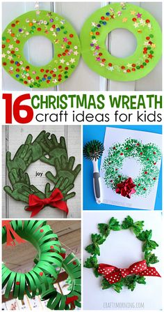 Christmas DIY: Christmas Wreath Cra Christmas Wreath Craft Ideas for Kids - Crafty Morning Preschool Christmas, Christmas Crafts For Kids, Christmas Activities, Xmas Crafts, Christmas Holidays, Christmas Wreaths, Gift Crafts, Christmas Vacation, Christmas Morning