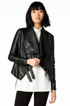 Indira Faux Leather Moto Jacket