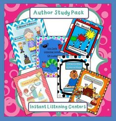 Start the School Year Right! - This pack will rock your listening center!.  A GIVEAWAY promotion for Author Study - 6 Instant Listening Center Pack - QR Codes/ Daily 5 from Smart Teaching on TeachersNotebook.com (ends on 6-27-2014)