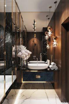Guest bathroom Guest bathroom repeats the overall style of the apartment. ~ Guest bathroom repeats the overall style of the apartment. Diy Bathroom, Bathroom Layout, Modern Bathroom, Master Bathroom, Bathroom Ideas, Bathroom Designs, Tile Layout, Master Baths, Bathroom Inspo