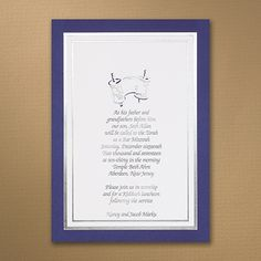 www.theformalwearstore.com Cherished Torah - Invitation