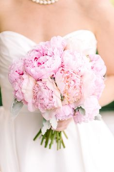 You can never, ever have too many pink peonies! #wedding #flowers #bouquet | Photo by Dominique Attaway Photography