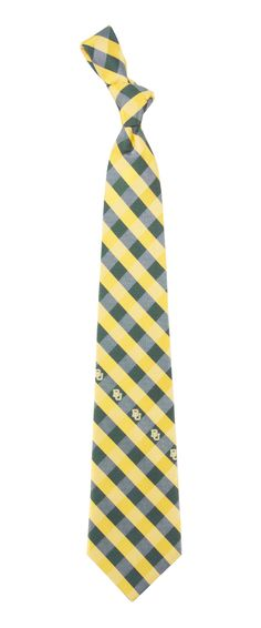 Baylor Bears Check Polyester Neck Tie