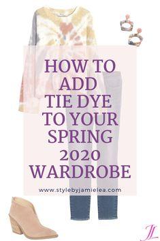 How to Wear Spring Popular Tie Dye Trend Winter Wardrobe Essentials, Wardrobe Basics, Tie Dye Sweatshirt, Casual Tie, Tie Dye Outfits, Tracksuit Set, Fashion 2020, Mom Fashion, Cold Weather Fashion