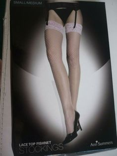 Ann Summers Lace Top Maid Hold Ups
