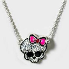 monster high crystal skull necklace