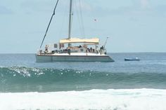 The Bohemian Baru is a 62-foot aluminum #catamaran powered by two Daewoo 220 HP engines for a high end speed of 14 knots – cruising speed of 10 knots.